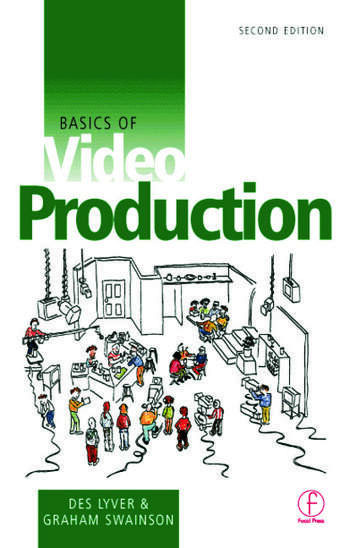 Basics of Video Production book cover