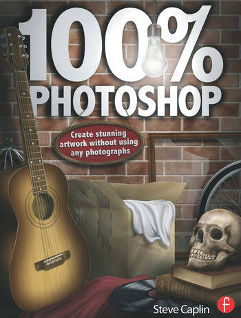 100% Photoshop Create stunning illustrations without using any photographs book cover
