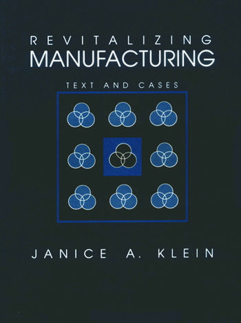 Revitalizing Manufacturing Text and Cases book cover