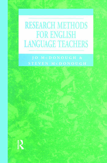 Research Methods for English Language Teachers book cover