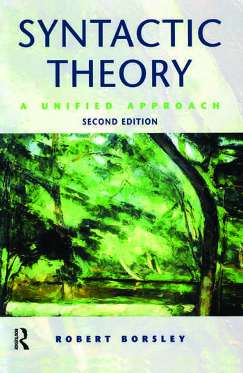 Syntactic Theory A Unified Approach book cover