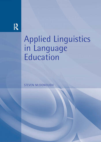 Applied Linguistics in Language Education book cover