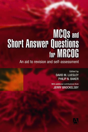 MCQs & Short Answer Questions for MRCOG An aid to revision and self-assessment book cover