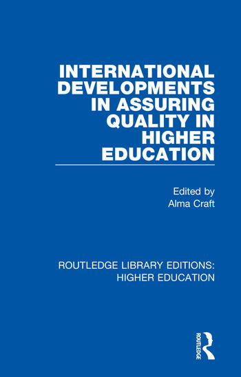 International Developments in Assuring Quality in Higher Education book cover