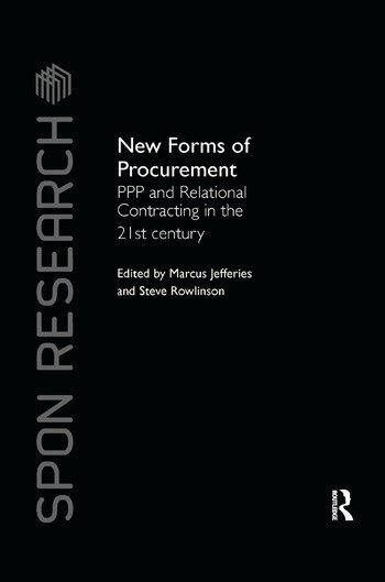New Forms of Procurement PPP and Relational Contracting in the 21st Century book cover
