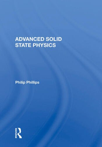 Advanced Solid State Physics book cover