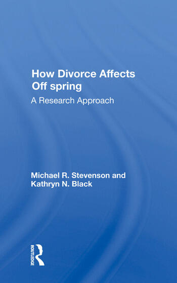 How Divorce Affects Offspring A Research Approach book cover