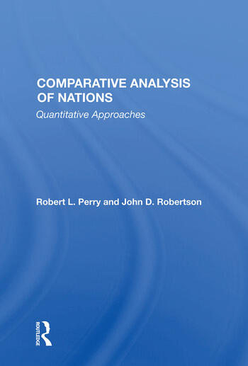 Comparative Analysis Of Nations Quantitative Approaches book cover