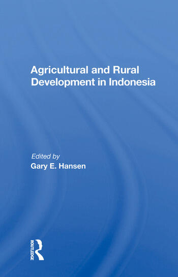 Agricultural And Rural Development In Indonesia book cover