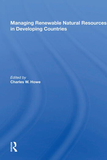 Managing Renewable Natural Resources in Developing Countries book cover