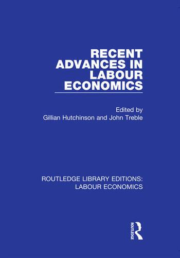 Recent Advances in Labour Economics book cover