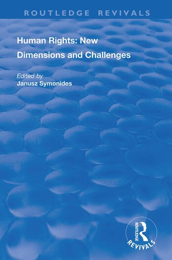 Human Rights New Dimensions and Challenges book cover