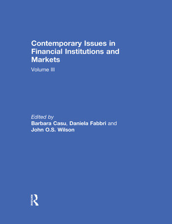 Contemporary Issues in Financial Institutions and Markets Volume III book cover
