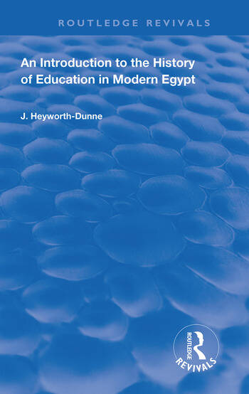 An Introduction to the History of Education in Modern Egpyt book cover