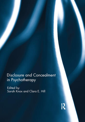 Disclosure and Concealment in Psychotherapy book cover