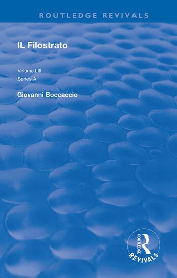 Il Filostrato book cover