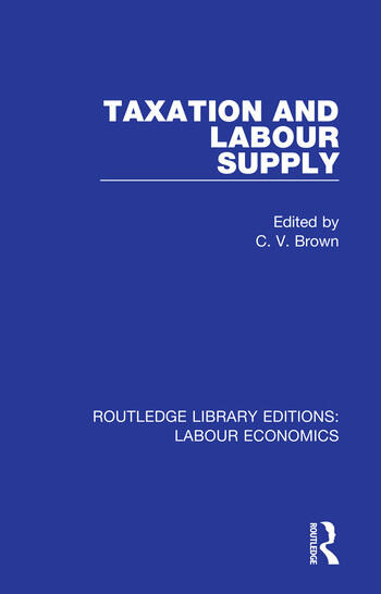 Taxation and Labour Supply book cover
