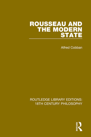 Rousseau and the Modern State book cover