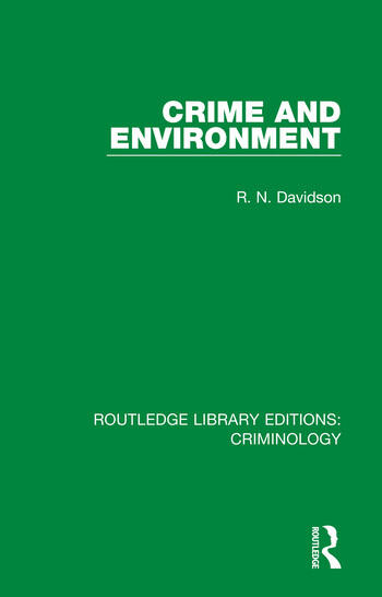 Crime and Environment book cover
