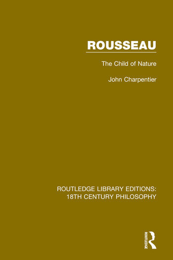 Rousseau The Child of Nature book cover