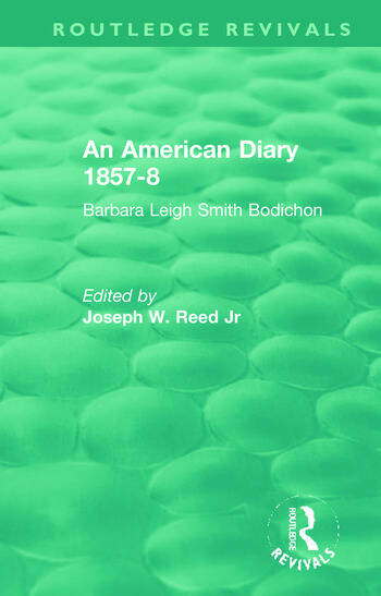 An American Diary 1857-8: Barbara Leigh Smith Bodichon book cover