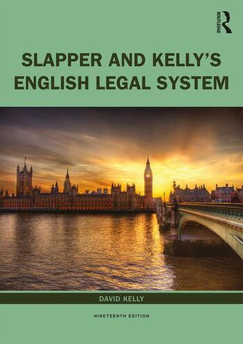 Slapper and Kelly's The English Legal System book cover