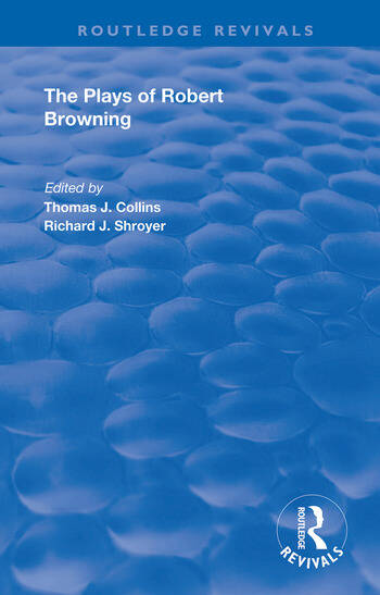 The Plays of Robert Browning book cover