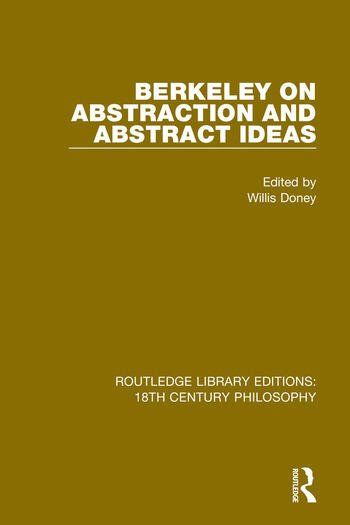 Berkeley on Abstraction and Abstract Ideas book cover