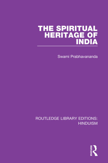 The Spiritual Heritage of India book cover