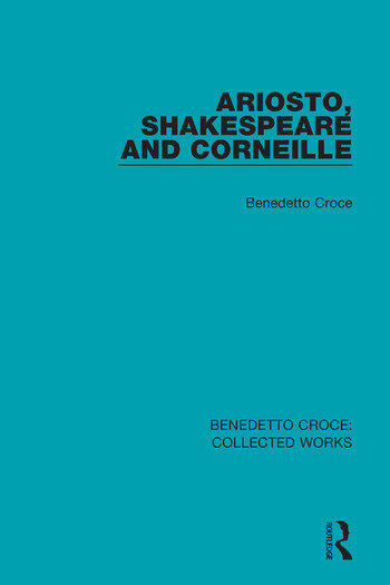 Ariosto, Shakespeare and Corneille book cover