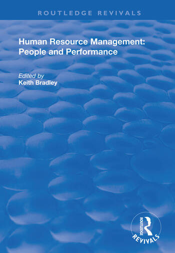 Human Resource Management People and Performance book cover