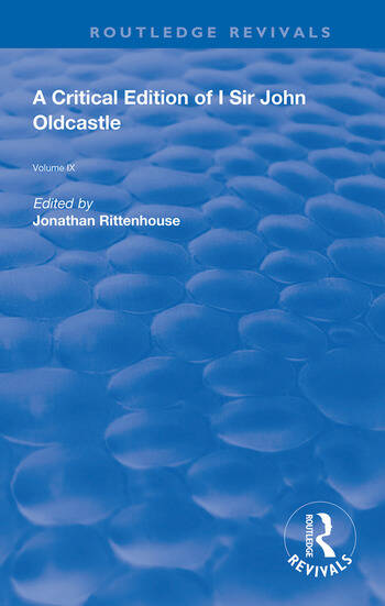 A Critical Edition of I SIr John Oldcastle book cover