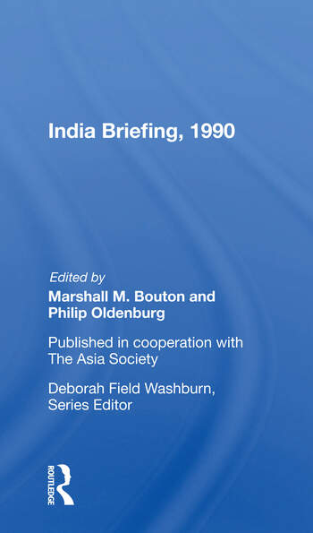 India Briefing, 1990 book cover