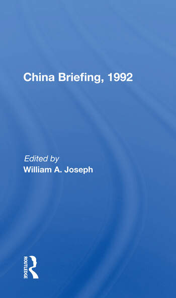 China Briefing, 1992 book cover