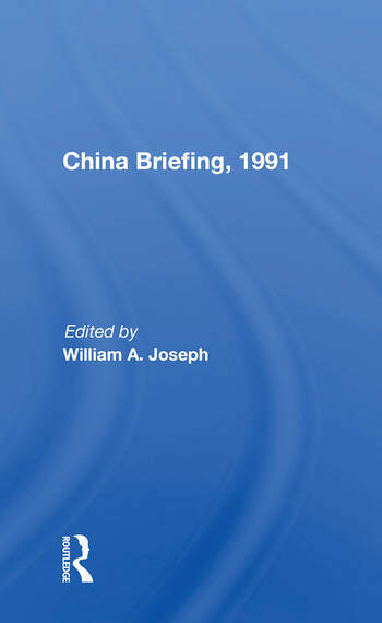 China Briefing, 1991 book cover