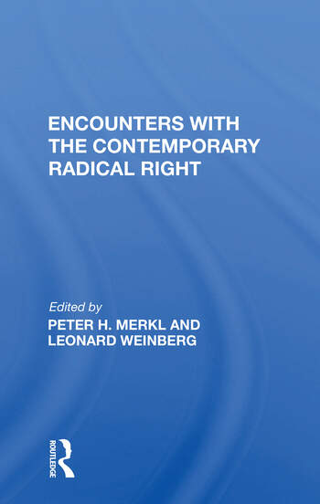 Encounters With The Contemporary Radical Right book cover