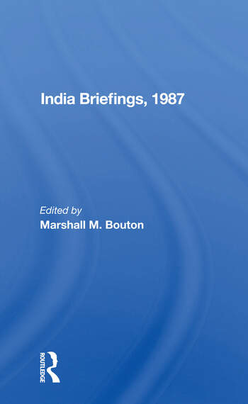 India Briefing, 1987 book cover