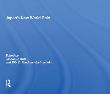 Japan's New World Role book cover