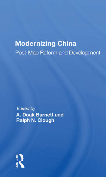 Modernizing China Post-mao Reform And Development book cover