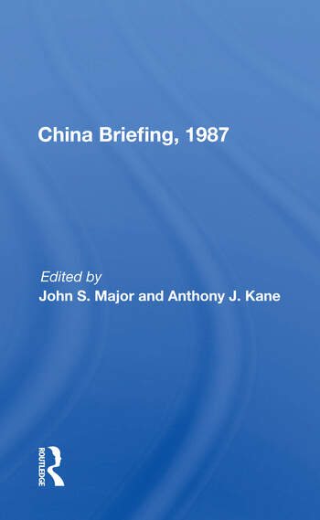China Briefing, 1987 book cover