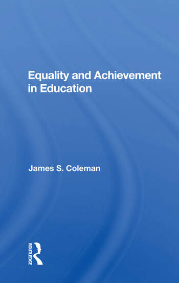 Equality And Achievement In Education book cover
