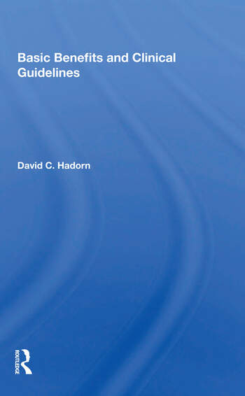Basic Benefits And Clinical Guidelines book cover