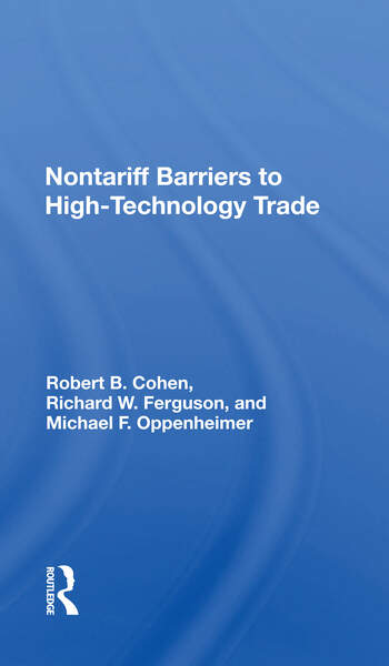 Nontariff Barriers To High-technology Trade book cover