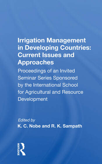 Irrigation Management In Developing Countries Current Issues And Approaches book cover