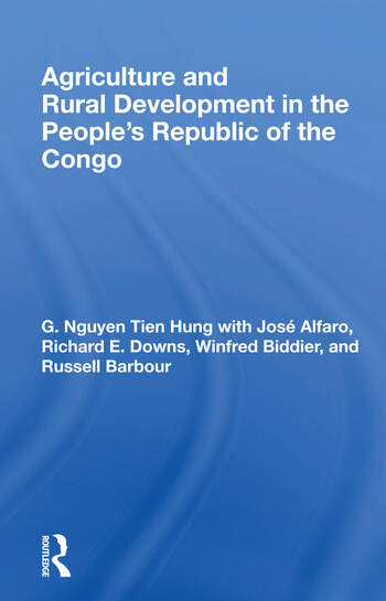 Agriculture And Rural Development In The People's Republic Of The Congo book cover