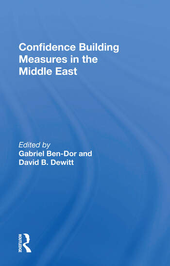 Confidence Building Measures In The Middle East book cover