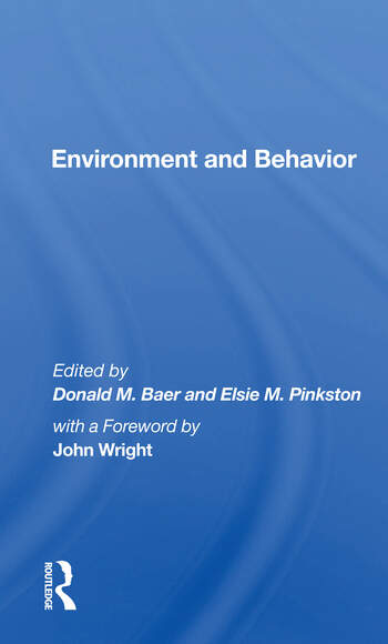 Environment And Behavior book cover