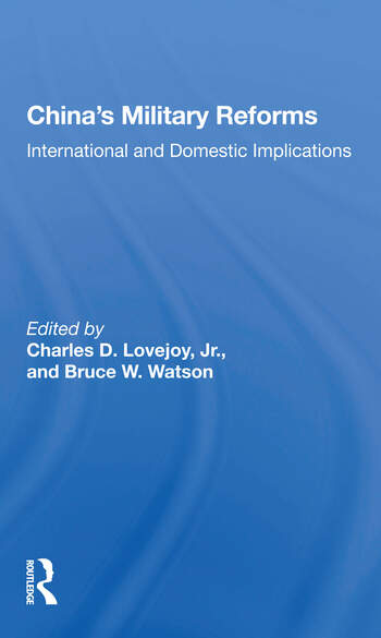 China's Military Reforms International And Domestic Implications book cover
