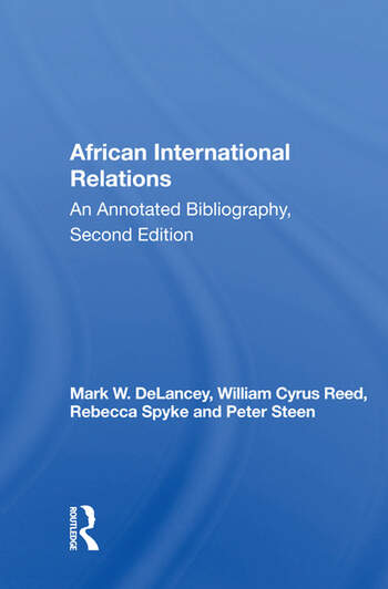 African International Relations An Annotated Bibliography, Second Edition book cover
