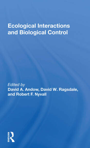 Ecological Interactions And Biological Control book cover